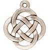 Charm Celtic Open Round Antique Silver